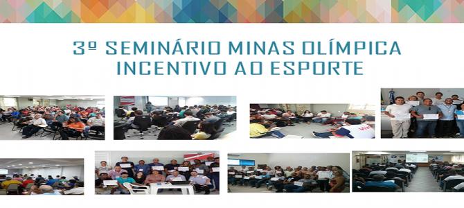 Participe do 3º Seminário Minas Olímpica Incentivo ao Esporte!